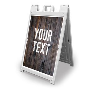 Dark Wood Your Text Here 2' x 3' Street Sign Banners