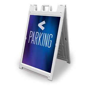 Aurora Lights Parking 2' x 3' Street Sign Banners