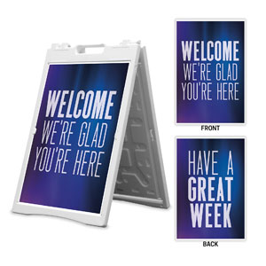 Aurora Lights Welcome Great Week 2' x 3' Street Sign Banners