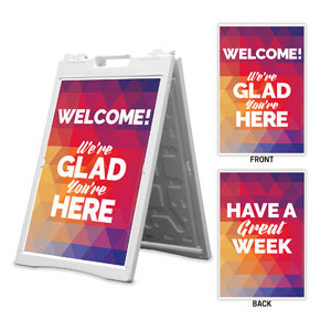 Geometric Bold Welcome Great Week 2' x 3' Street Sign Banners