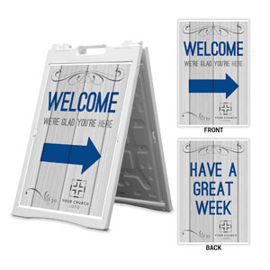 Painted Wood Welcome Great Week 2' x 3' Street Sign Banners