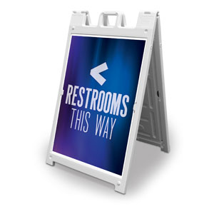 Aurora Lights Restrooms 2' x 3' Street Sign Banners