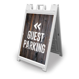Dark Wood Guest Parking 2' x 3' Street Sign Banners