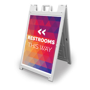 Geometric Bold Restrooms 2' x 3' Street Sign Banners