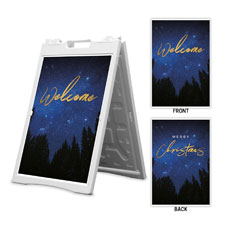 Night Sky Gold Script Welcome Christmas