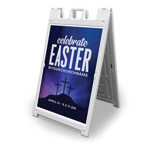 Aurora Lights Celebrate Easter 2' x 3' Street Sign Banners