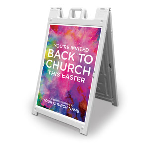 Back to Church Easter 2' x 3' Street Sign Banners
