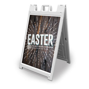 Dark Wood Easter At 2' x 3' Street Sign Banners