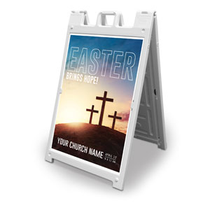 Easter Hope Outline 2' x 3' Street Sign Banners
