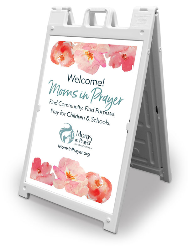 Banners, Moms In Prayer Flowers, 2' x 3'