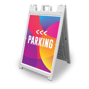Curved Colors Parking 2' x 3' Street Sign Banners