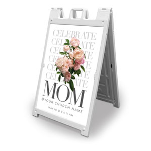 Celebrate Mom Flowers 2' x 3' Street Sign Banners