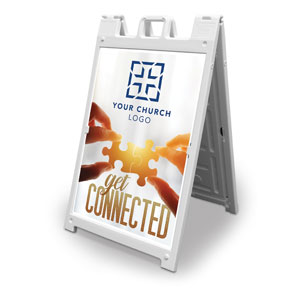 Connected Church Logo 2' x 3' Street Sign Banners