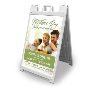 Online Mother's Day In Bed 2' x 3' Street Sign Banners