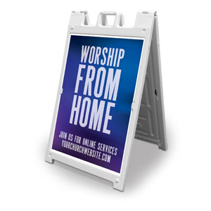 Aurora Lights Worship From Home 2' x 3' Street Sign Banners