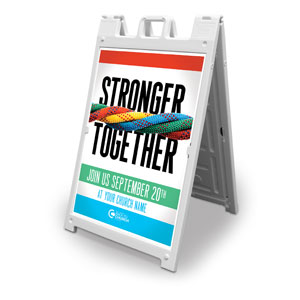 BTCS Stronger Together 2' x 3' Street Sign Banners
