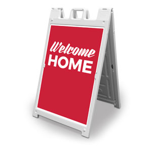 Red Welcome Home 2' x 3' Street Sign Banners