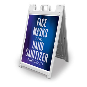 Aurora Lights Masks Sanitizer 2' x 3' Street Sign Banners