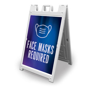 Aurora Lights Face Masks Required 2' x 3' Street Sign Banners