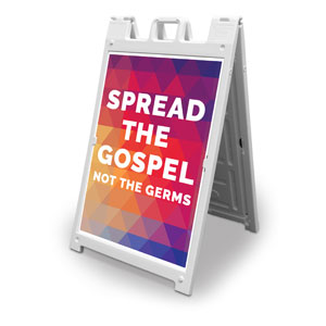 Geometric Bold Spread the Gospel 2' x 3' Street Sign Banners