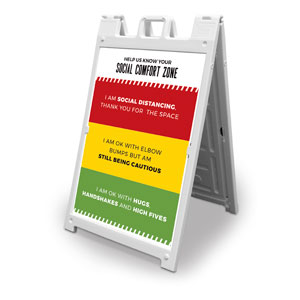 Social Comfort Zone Multicolor 2' x 3' Street Sign Banners