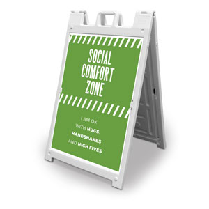 Social Comfort Zone Green 2' x 3' Street Sign Banners