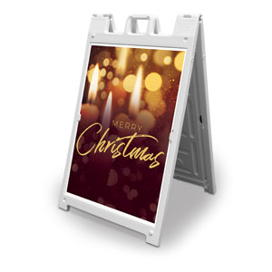 Celebrate Christmas Candles 2' x 3' Street Sign Banners