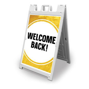 Gold Dot Welcome Back 2' x 3' Street Sign Banners