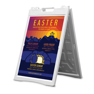 Easter Sunday Graphic 2' x 3' Street Sign Banners