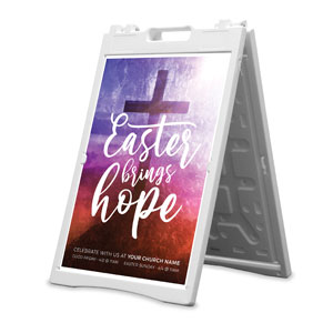 Easter Brings Hope Cross 2' x 3' Street Sign Banners