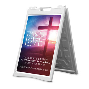 Love Easter Colors 2' x 3' Street Sign Banners