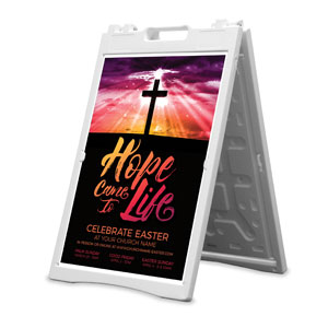 Hope Life Cross 2' x 3' Street Sign Banners