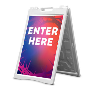 Celebrate Easter Crown Enter Here 2' x 3' Street Sign Banners