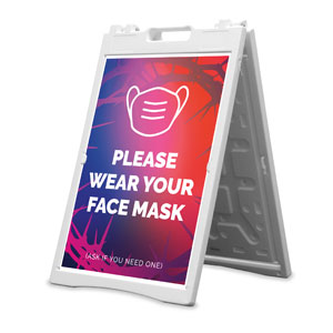 Celebrate Easter Crown Face Mask 2' x 3' Street Sign Banners