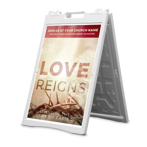 Love Reigns 2' x 3' Street Sign Banners