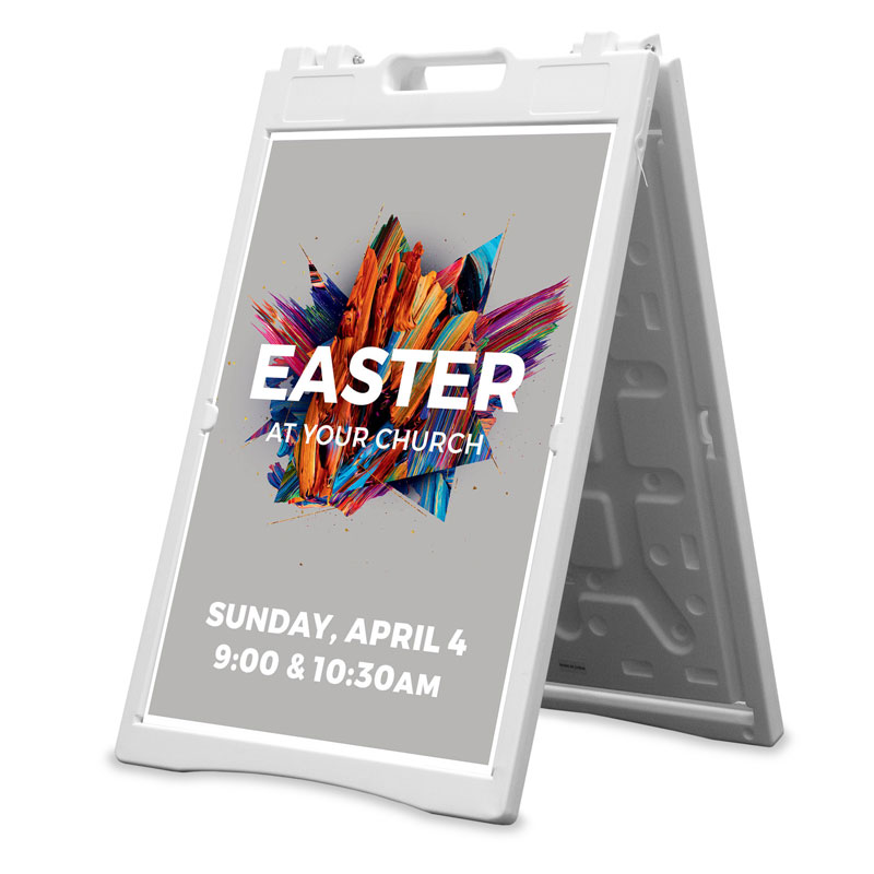 Banners, Easter, CMU Easter Invite 2021 Grey, 2' x 3'