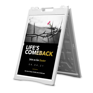 Life's Comeback 2' x 3' Street Sign Banners
