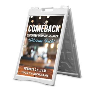 The Comeback 2' x 3' Street Sign Banners