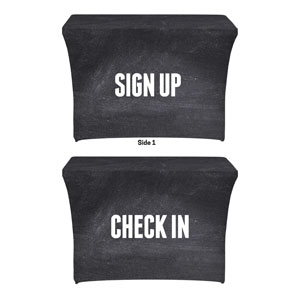 Slate Sign Up Check In Stretch Table Covers