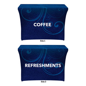 Flourish Coffee Refreshments Stretch Table Covers
