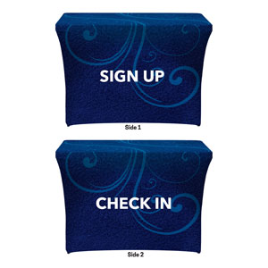 Flourish Sign Up Check In Stretch Table Covers