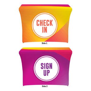 Curved Colors Sign Up Check In Stretch Table Covers