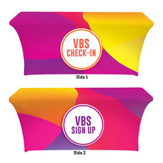 Curved Colors VBS Sign Up Check In