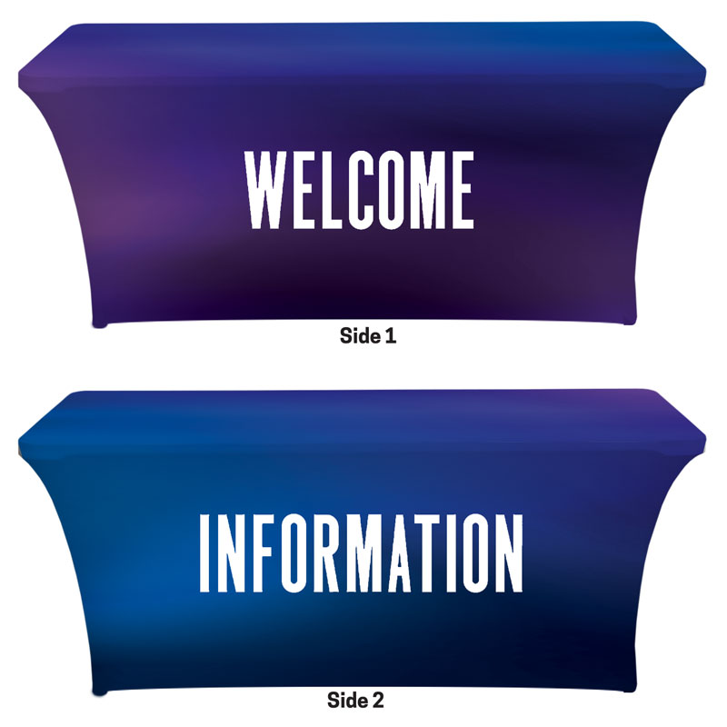 Table Covers, Welcome, Aurora Lights Welcome Information, 6'