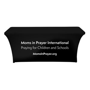 Moms In Prayer Black and White Stretch Table Covers