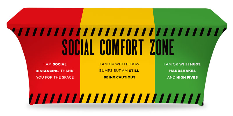 Table Covers, Social Comfort Zone Multicolor, 6'