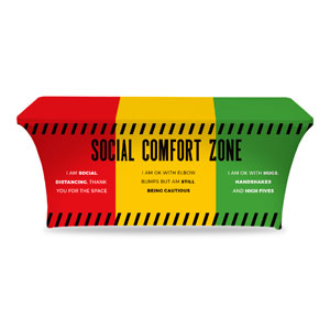 Social Comfort Zone Multicolor Stretch Table Covers