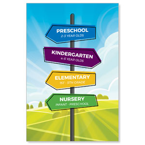 Bright Meadow Directional Banners