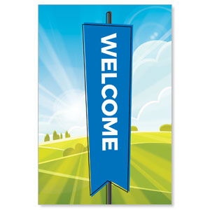 Bright Meadow Welcome StickUp