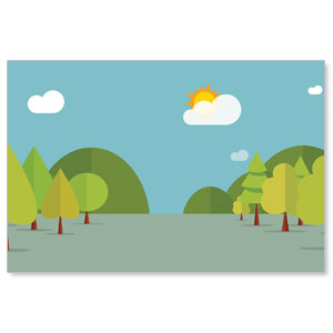 Woodland Friends Wall Scene StickUp